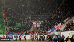 Indosport - Fans Chelsea di laga kontra Vidi