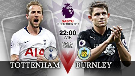 Pertandingan Tottenham Hotspur vs Burnley. - INDOSPORT
