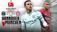 Indosport - Pertandingan Hannover 96 vs Bayern Munchen.