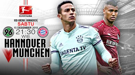 Pertandingan Hannover 96 vs Bayern Munchen. - INDOSPORT