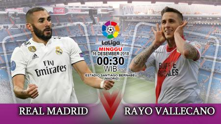 Prediksi Real Madrid Vs Rayo Vallecano. - INDOSPORT