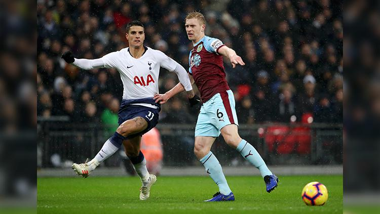 Ben Mee dan Erik Lamela. Copyright: Getty Images