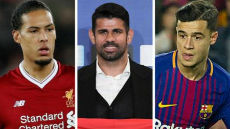 Virgil van Dijk, Diego Costa, Philippe Coutinho - INDOSPORT