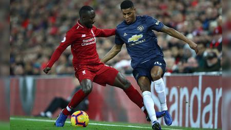 Naby Keita saat tampil membela Liverpool di kompetisi Liga Primer Inggris. - INDOSPORT