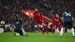 Indosport - Shaqiri saat mencetak gol kedua utuk Liverpool di laga kontra Manchester United.
