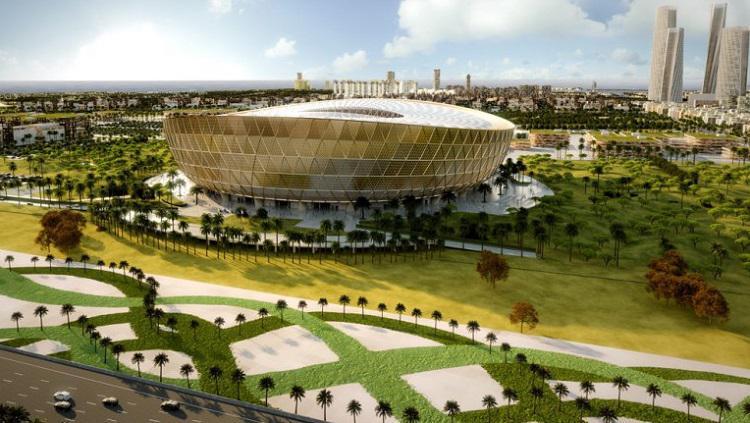Stadion Lusail untuk Piala Dunia 2022 Copyright: The Peninsula Qatar