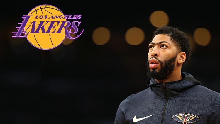 Anthony Davis, pebasket bintang New Orleans Pelicans dikabarkan masuk dalam pantauan dari LA Lakers. Copyright: INDOSPORT