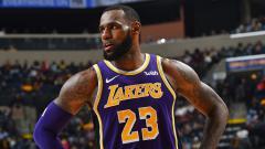 Indosport - LeBron James, pemain megabintang LA Lakers.