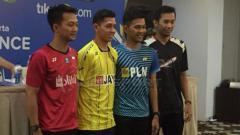 Indosport - Jumpa pers jelang Kejuaraan Nasional Bulutangkis PBSI 2018