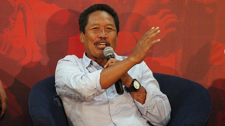 Anggota komite wasit Purwanto saat diskusi PSSI Harus Baik di Graha Pena Copyright: Fitra Herdian/Indosport.com