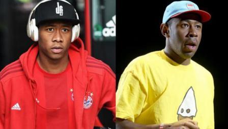 Bintang Bayern Munchen, David Alaba dan Tyler, aktor dan rapper asal Amerika Serikat.