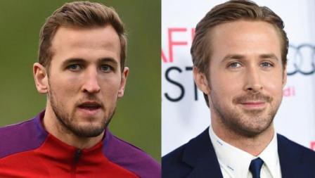 Striker Tottenham Hotspur, Harry Kane dan  Ryan Gosling, aktor asal Amerika Serikat.