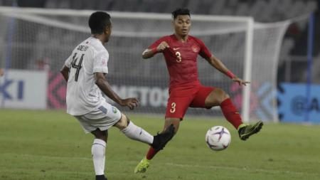 Alfath Fathier saat membela Timnas Indonesia di Piala AFF 2018. - INDOSPORT