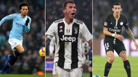 Leroy Sane, Mandzukic, Di Maria menjadi beberapa pemain yang akan bereuni dengan mantan klubnya pada babak 16 besar Liga Champions 2018/19. - INDOSPORT