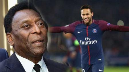 Pele mengkritik Neymar karena terlalu sering melakukan diving. - INDOSPORT