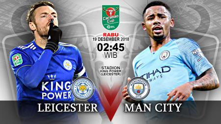 Pertandingan Leicester City vs Manchester City. - INDOSPORT