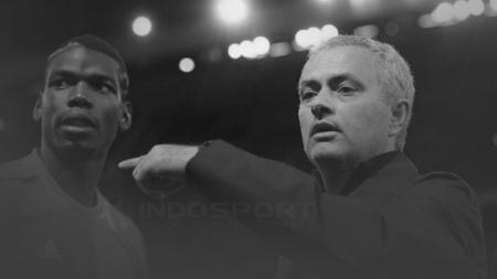 Jose Mourinho dan Paul Pogba - INDOSPORT