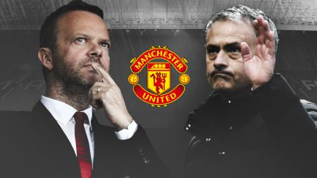 Salah satu petinggi Manchester United, Ed Woodward dan Jose Mourinho, mantan pelatih Manchester United. - INDOSPORT