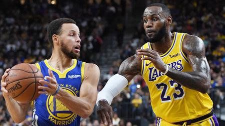 Superstar LA Lakers, LeBron James, memuji sosok rivalnya di NBA, Stephen Curry. - INDOSPORT