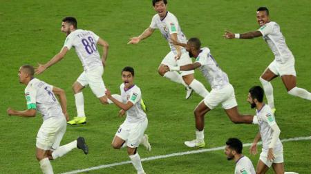 Ekspersi kebahagian pemain AL Ain usai taklukan River Plate di Piala Dunia Antara Klub 2018. - INDOSPORT