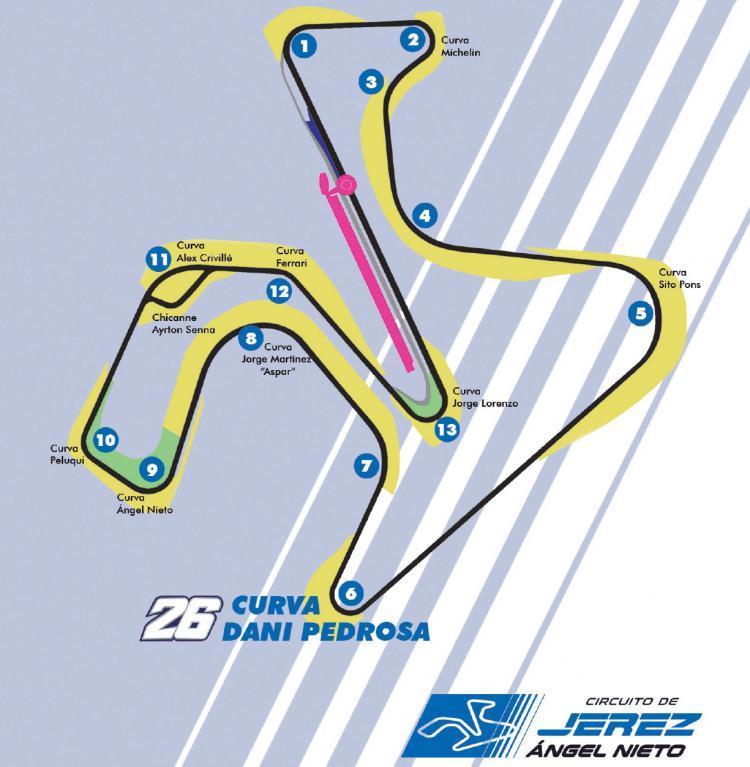 Tikungan 6 di Sirkuit Jerez yang akan dinamai Dani Pedrosa Copyright: Crash.net
