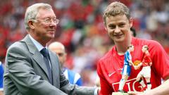 Indosport - Ole Gunnar Solskjaer dan Sir Alex Ferguson.