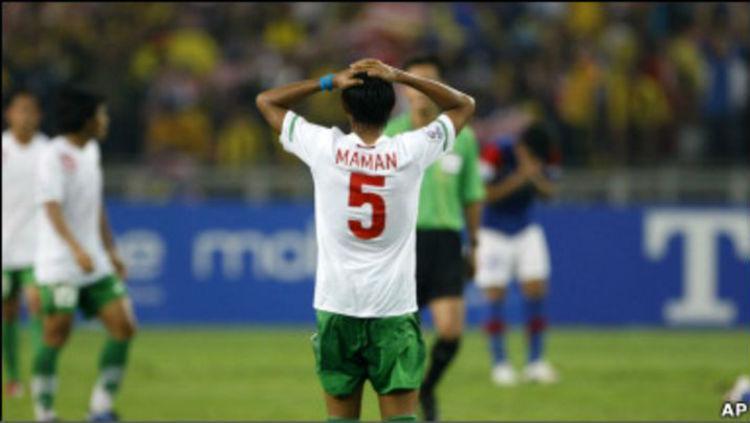 Maman Abdurahman di final Piala AFF 2010. Copyright: AP