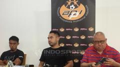 Indosport - Maman Abdurrahman, Ponaryo, dan Andi Darussalam Tabusalla di preskon APPI