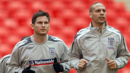 Frank Lampard dan Rio Ferdinand pernah terlibat pesta seks usai tampil bersama Inggris di Euro 2000. - INDOSPORT