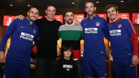 Fernando Torres dan David Villa kembali ke Atletico Madrid untuk menghadiri jamuan makan malam natal - INDOSPORT