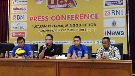 Konferensi pers seri ketiga putaran pertama Proliga 2019. - INDOSPORT