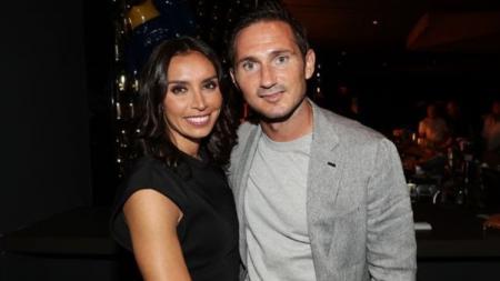 Frank Lampard beserta sang istri, Christine. - INDOSPORT