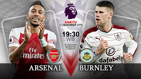 Pertandingan Arsenal vs Burnley. - INDOSPORT