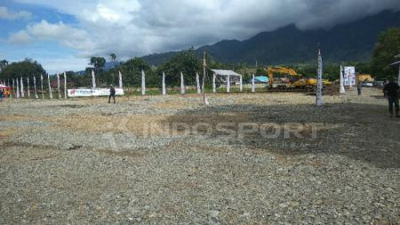 Area Lahan Tempat Pembangunan venue PON XX, GOR Tinju di Kabupaten Jayapura. - INDOSPORT