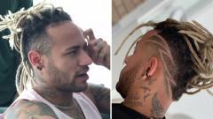 Indosport - Sambut Natal, Neymar Jr. ubah gaya rambut.
