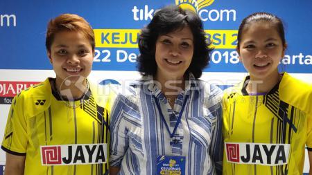 Apriyani Rahayu-Imelda Wiguna-Greysia Polii, para penggawa tim Jaya Raya Jakarta - INDOSPORT