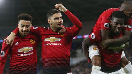 Selebrasi Skuat Manchester United - INDOSPORT