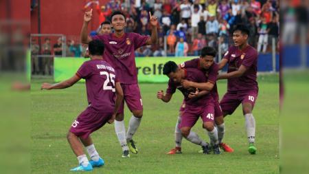 Skuat Persik Kediri yang promosi ke Liga 2 2019. - INDOSPORT