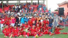 Indosport - Skuat Persinga Ngawi yang berlaga di Liga 3