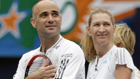 Andre Agassi dan Steffi Graf, dua pasangan legenda tenis. - INDOSPORT