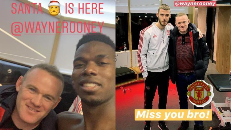 Pogba dan De Gea Pamer Potret Kebersamaan dengan Wayne Rooney Copyright: Instagram