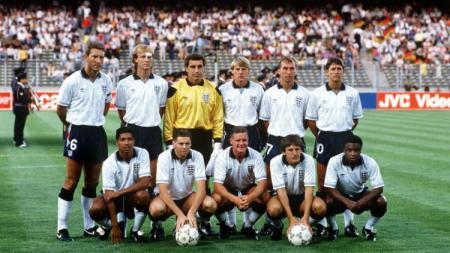 Timnas Inggris yang berlaga di Piala Dunia 1990. - INDOSPORT