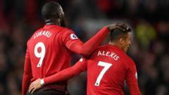 Indosport - Duo Penyerang Manchester United, Alexis Sanchez dan Romelu Lukaku