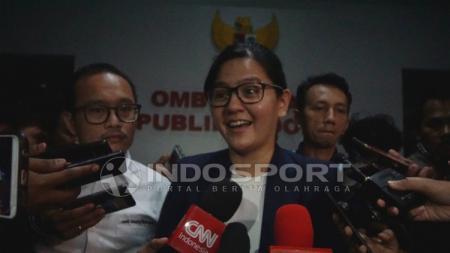 Sekjen PSSI, Ratu Tisha saat memberikan komentar mengenai kelanjutan masalah pengaturan skor. - INDOSPORT