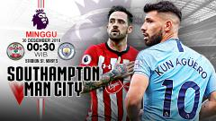 Indosport - Pertandingan Southampton vs Manchester Cityl.