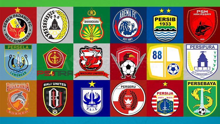 Logo Klub Liga 1 2019 Copyright: Agil Mubarok/Indosport