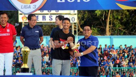 Striker Persik, Putra Bagaskara tampil sebagai top skorer Liga 3.