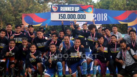PSCS Cilacap meraih juara kedua Liga 3 2018.