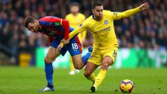 Indosport - Eden Hazard di laga kontra Crystal Palace.
