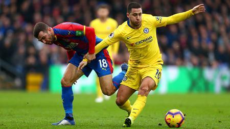 Eden Hazard di laga kontra Crystal Palace. - INDOSPORT